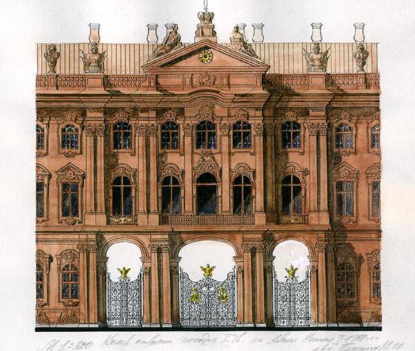 Окраска фасадов Зимнего дворца в первой четверти ХХ века