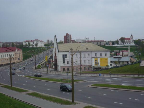 Спуск к мосту через Неман в Гродно