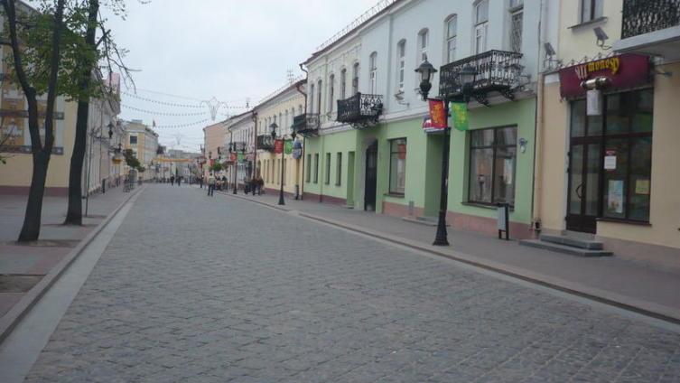 Старинная городская застройка в Гродно