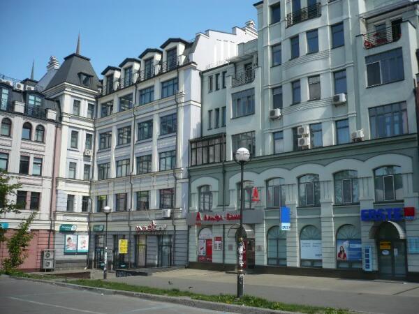 Киевская застройка в районе Контрактовой площади