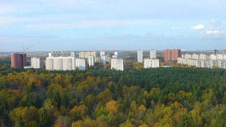 Троицк, вид микрорайона «В»