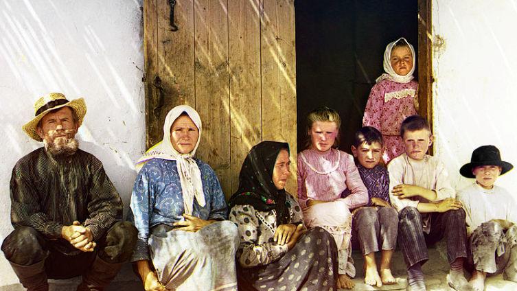 Русские поселенцы (возможно, молокане) в Муганской степи, Азербайджан