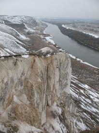 Меловые горы близ Сторожевого. Воронежская область, Острогожский район.
