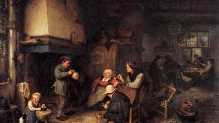 Адриан ван Остаде, Крестьяне в кабачке, 1661