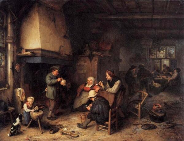 Адриан ван Остаде, кабацкие сцены. Веселье дошло до...?