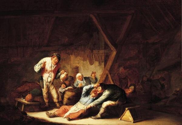 Адриан ван Остаде, Веселящиеся крестьяне