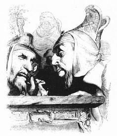 Рисунок Жана Гранвиля (1838)