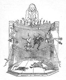Канатные плясуны. Рисунок Жана Гранвиля (1838)