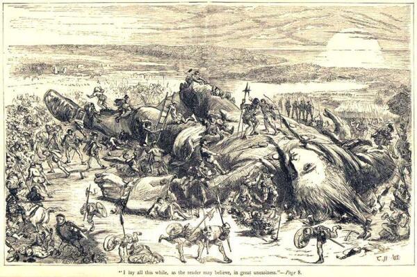 Л. Толстой: «Думал о рабстве прежнем. Прежде видна была цепь, а в Европе волоски, но их так же много, как и тех, которыми связали Гулливера. У нас еще видны веревки, а там волоски, но держат так, что великану-народу двинуться нельзя»