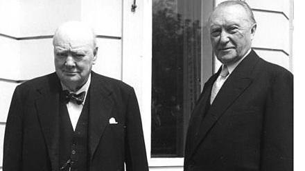 Уинстон Черчилль и Конрад Аденауэр, 1956 год, Бонн