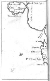 Карта Бробдингнега из издания 1726 года