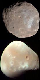 Спутники Марса - Фобос и Деймос.