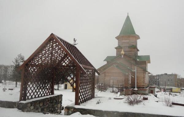 Сегежа. Церковь Святой Живоначальной Троицы. Западный фасад