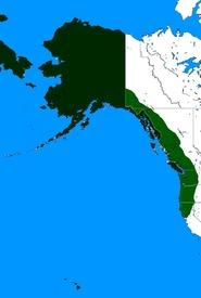 Карта Русской Америки