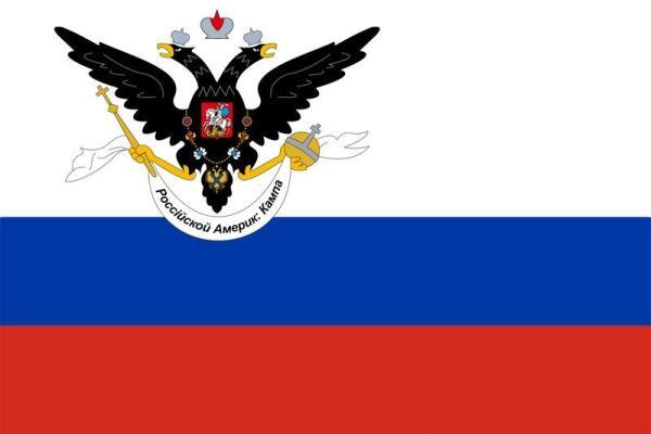 Флаг Русской Американской компании