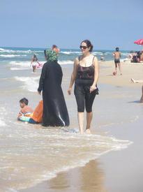На пляже в Яффо. Октябрь 2010 года