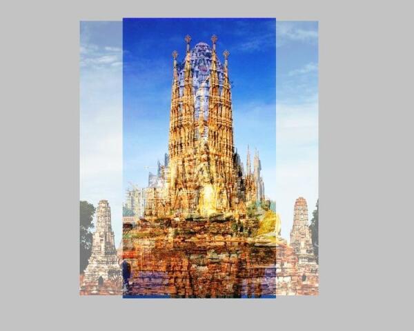 Храм Аютии и Саграда Фамилия