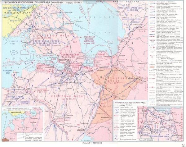 Карта блокады Ленинграда