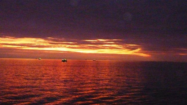 Закат в Мексиканском заливе
