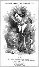 Карикатура на Уайльда в журнале