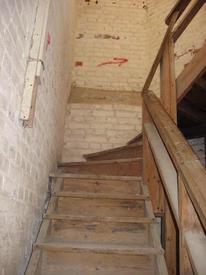 Деревянная лестница на площадку звона