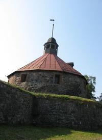 Круглая (воротная) башня Старой крепости Приозерска (1585 г.). Фортификатор Якоб ван Стендель