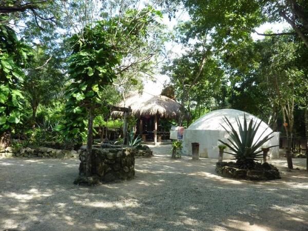 Часть старинной деревни народа майя