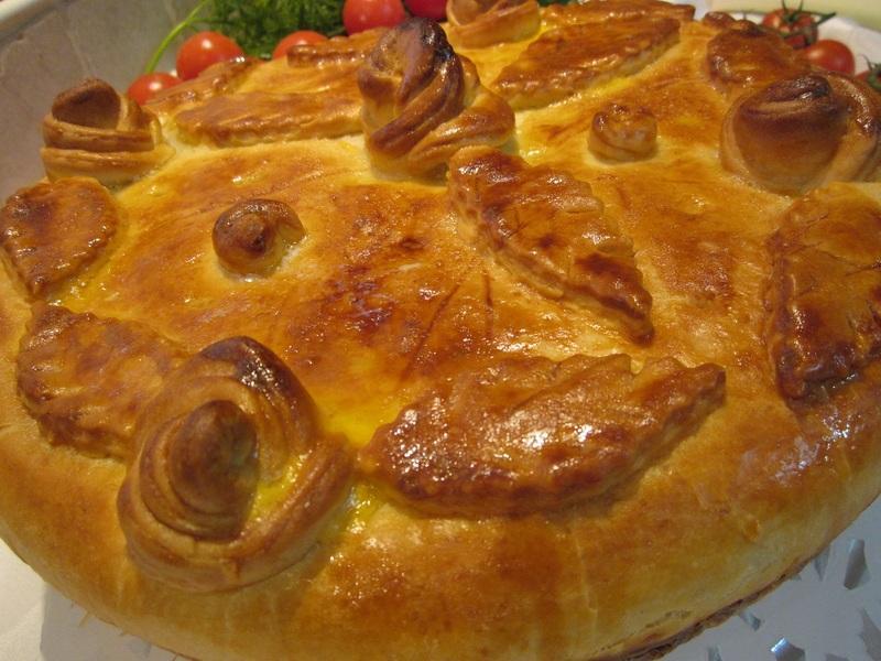 Мясной пирог на дрожжевом тесте рецепт с