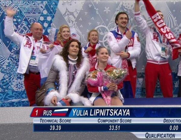 Первые олимпийские оценки