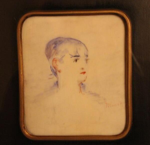 Эдуард Мане. Акварельный портрет.