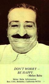 Постер с ликом и слоганом Мехер Бабы