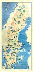Карта маршрута Нильса 1947г.в мемориальном музее в Морбакке