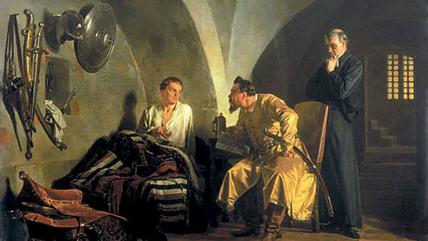 «Дмитрий Самозванец у Вишневецкого» Н. Неврев, 1876 г.
