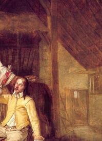 «Два солдата, служанка и трубач», фрагмент «Лестница на сеновал и дверь в дом»