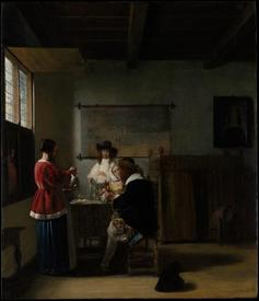 The Visit (Визит), 68х58 см, 1657, Метрополитен музей, Нью-Йорк, США