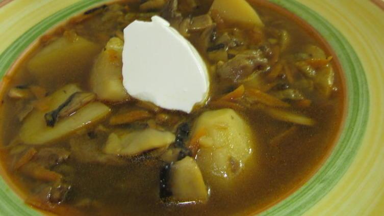 Суп грибной с картошкой