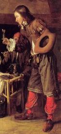 «Мужчина предлагает бокал вина», фрагмент «Молодой человек»