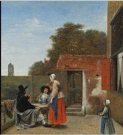 Питер де Хох, «Голландский дворик», 1659, 70 x 60 см, National Gallery of Art, Вашингтон, США