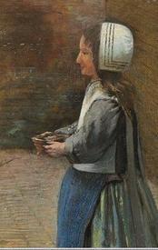 Питер де Хох, «Голландский дворик», фрагмент «Девочка с углями»