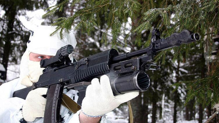 The AN-94 rifle with GP-25 grenade launcher