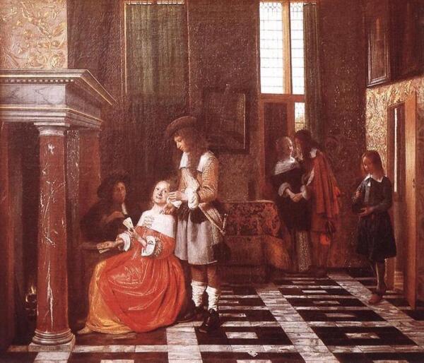 The card players (Карточные игроки) 67х77 см, 1663, Лувр, Париж, Франция