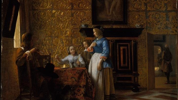 Приятная компания, 58х69 см, 1663, Метрополитен музей, Нью-Йорк, США
