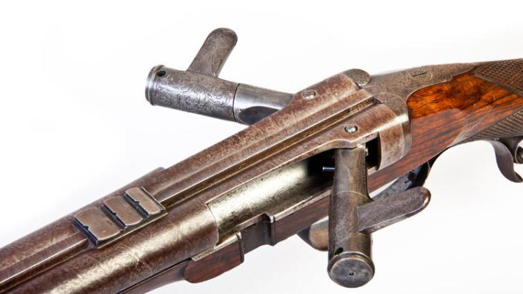 Старое охотничье ружье мастера Джозефа Нидхема (Joseph Needham), Англия, XIX в.