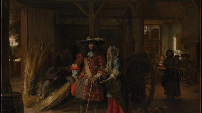 Плата за постой: 95х111 см, 1670, Метрополитен музей, Нью-Йорк, США