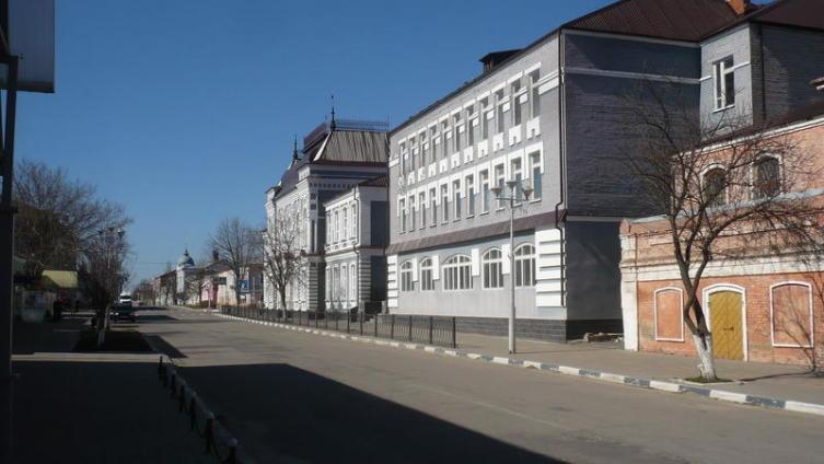 Проспект Революции в городе Павловске. Март 2014 года