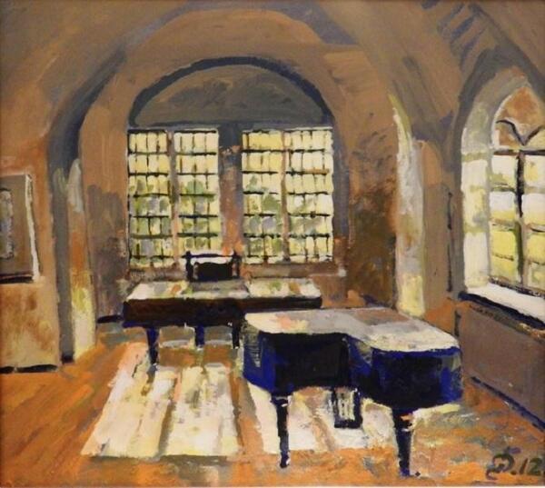 Григорий Фирер, Гостиная с роялем в доме Анны Тихо, 2012