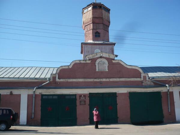 Пожарная каланча Павловска. Март 2014 года