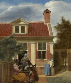 Питер де Хох, «Деревенский дом», 1665, 61 x 47 см, Rijksmuseum, Амстердам, Нидерланды