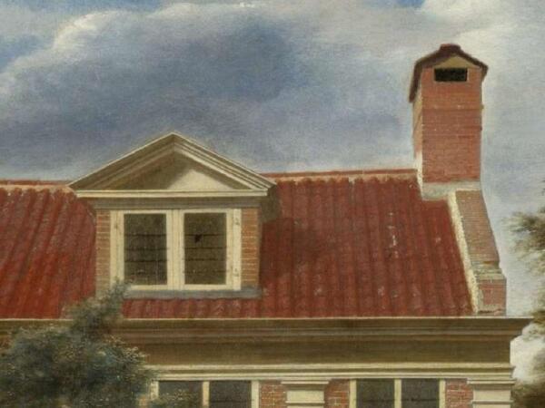 Питер де Хох, «Деревенский дом», фрагмент «Крыша»