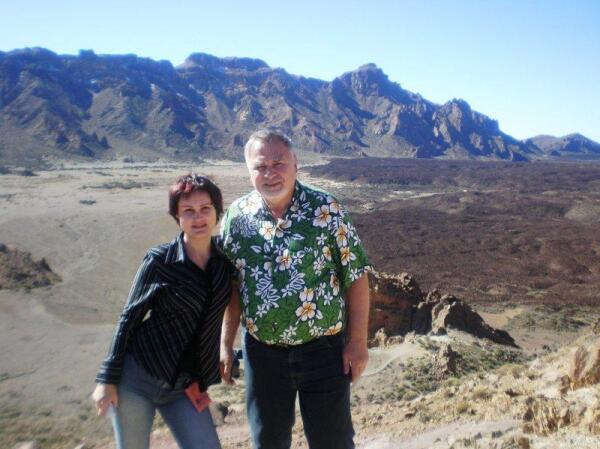 На Канарах в кальдере вулкана Лас Каниадас